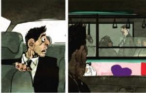 Stéphane De Groodt commente une séquence de sa BD réalisée avec Grégory Panaccione : 'Qui ne dit mot'