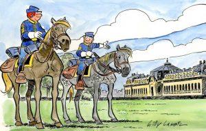 Expo 'Les Tuniques Bleues' au musée du cheval de Chantilly.