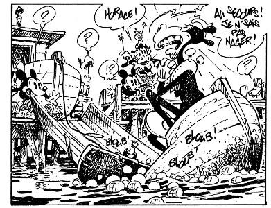 Mickey par Loisel, extrait strip 24